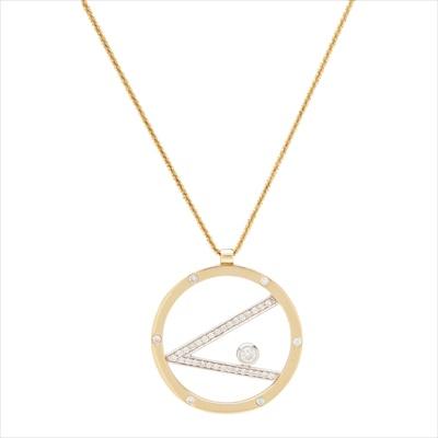 Lot 46-A modern diamond set pendant