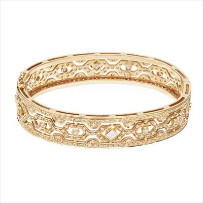 Lot 45-A diamond set bangle
