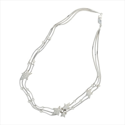 Lot 16-A diamond set multi-strand star necklace, Stefan Hafner