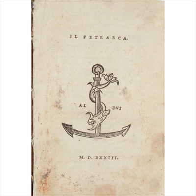 Lot 61 - Aldus - Petrarca, Francesco