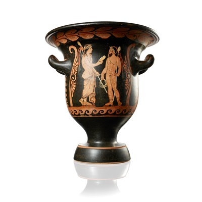 Lot 89-RED FIGURE BELL KRATER ATTRIBUTED TO PYTHON