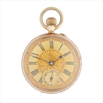 Lot 141 - A Victorian 9ct gold cased pocket watch
