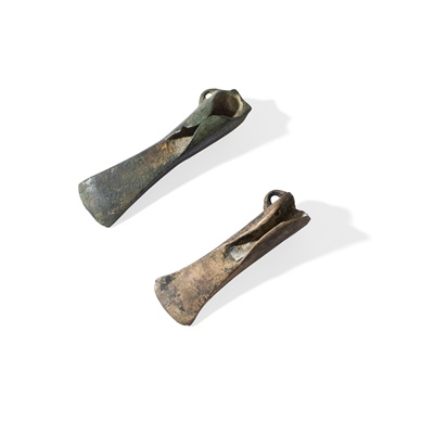 Lot 100 - PAIR OF WINGED AXES