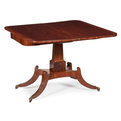 Lot 5 - A SCOTTISH REGENCY MAHOGANY SUPPER OR GAMES TABLE, ATTRIBUTED TO WILLIAM TROTTER