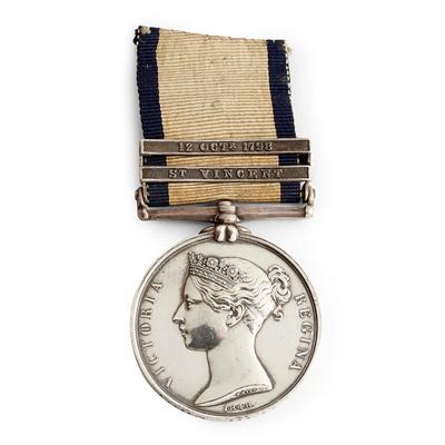 Lot 217 - A Victorian Naval General Service medal