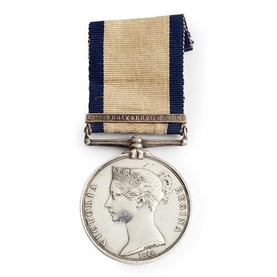 Lot 216 - A Victorian Naval General Service medal