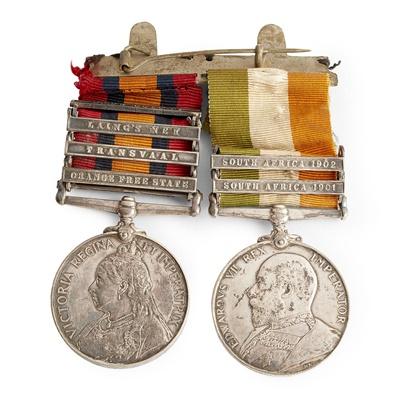 Lot 187 - A Boer War pair