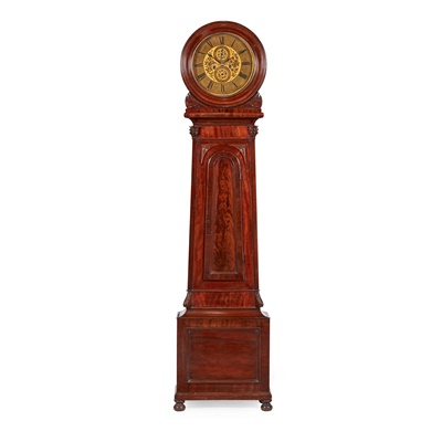 Lot 16 - A VICTORIAN MAHOGANY DRUM HEAD LONGCASE CLOCK BY PETER MCFARLANE, GLASGOW