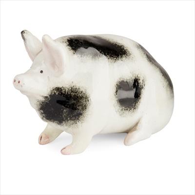 Lot 105 - A SMALL WEMYSS WARE PIG