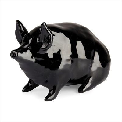Lot 102 - A SMALL WEMYSS WARE PIG