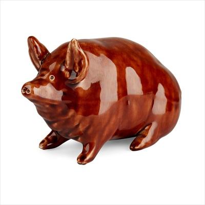 Lot 101 - A SMALL WEMYSS WARE PIG