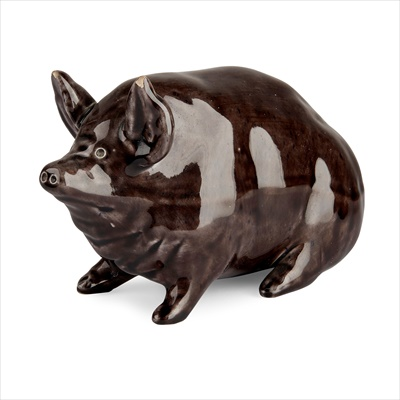 Lot 73 - A SMALL AND RARE WEMYSS WARE PIG