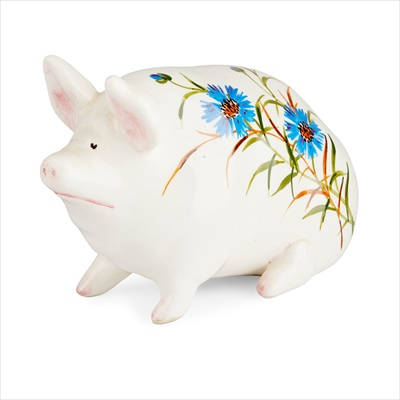 Lot 109 - A SMALL WEMYSS WARE PIG, FOR PLICHTA, LONDON