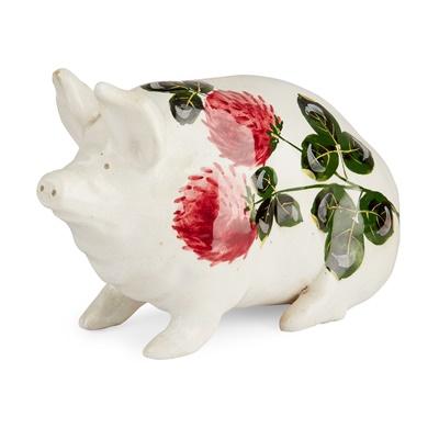 Lot 114 - A SMALL WEMYSS WARE MONEYBOX PIG