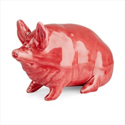 Lot 100 - A SMALL WEMYSS WARE PIG