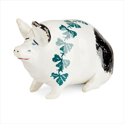 Lot 108 - A SMALL AND RARE WEMYSS WARE PIG
