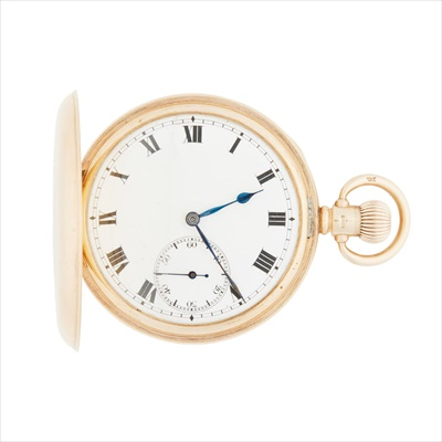 Lot 143 - A 9ct gold hunter cased pocket watch