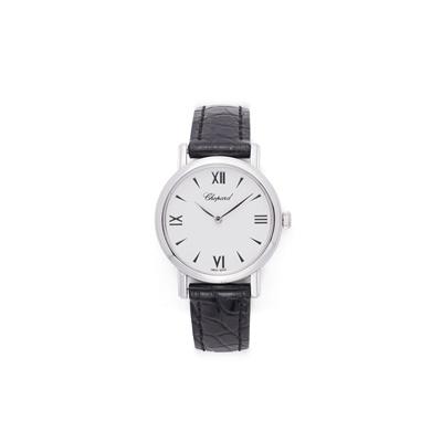 Lot 49 - An 18ct white gold wristwatch, by Chopard