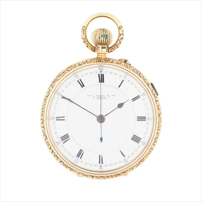 Lot 144 - An 18ct gold cased pocket watch, Thomas Russell Liverpool