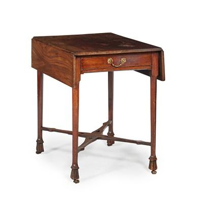 Lot 35 - GEORGE III MAHOGANY DROP-LEAF TEA TABLE