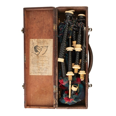 Lot 25-A CASED SET OF BAGPIPES