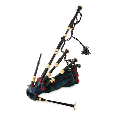 Lot 25 - A CASED SET OF BAGPIPES