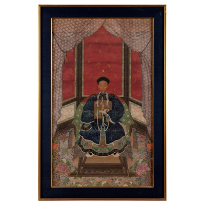 Lot 111 - TWO ANCESTOR PAINTINGS