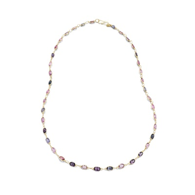 Lot 88 - A spinel necklace