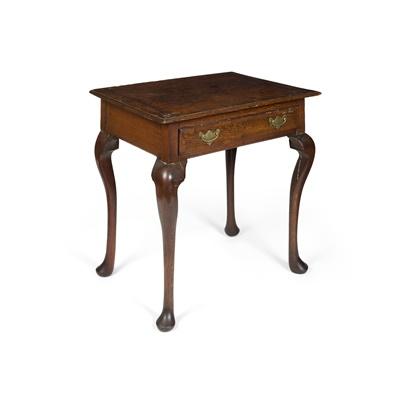 Lot 467 - GEORGE II OAK AND MAHOGANY SIDE TABLE