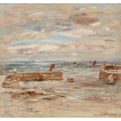 Lot 43 - WILLIAM MCTAGGART R.S.A., R.S.W (SCOTTISH 1835-1910)