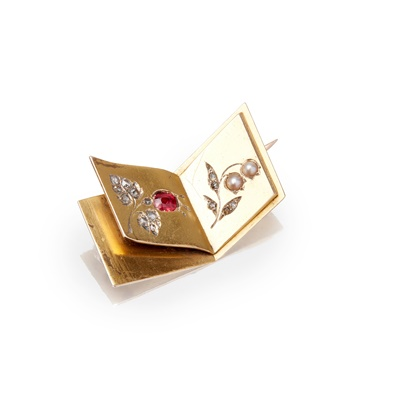 Lot 58-A multi-gem set Russian brooch