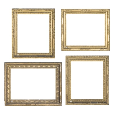 Lot 514 - FOUR GILTWOOD AND GESSO PICTURE FRAMES
