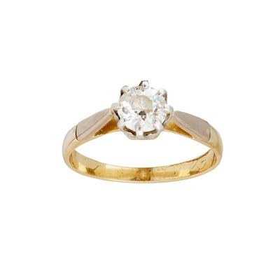 Lot 67-A single stone diamond ring