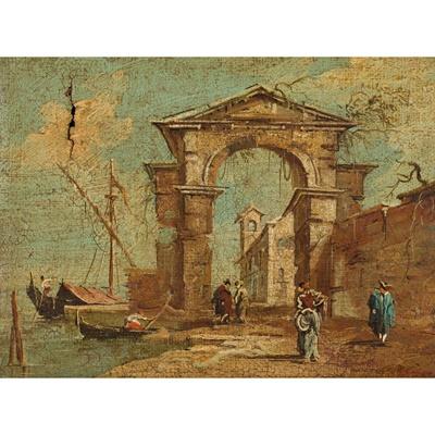Lot 24-MANNER OF FRANCESCO GUARDI (ITALIAN 20TH CENTURY)
