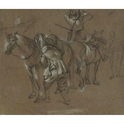 Lot 51 - ATTRIBUTED TO ESAIAS VAN DE VELDE (DUTCH 1587 - 1630)
