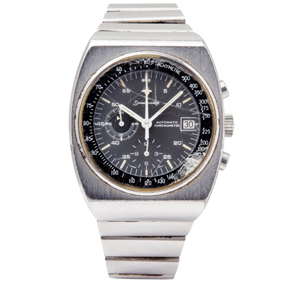 Lot 150 - A gentleman's stainless-steel chronograph, Omega
