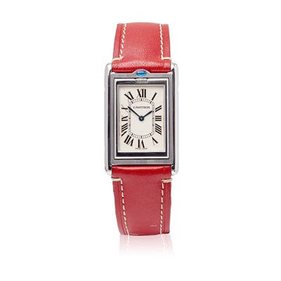 Lot 147 - A stainless steel cased wrist watch - Cartier
