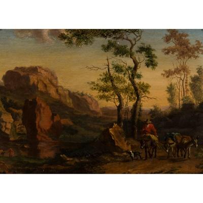 Lot 55 - ATTRIBUTED TO WILLEM DE HEUSCH (DUTCH 1625 - 1692)
