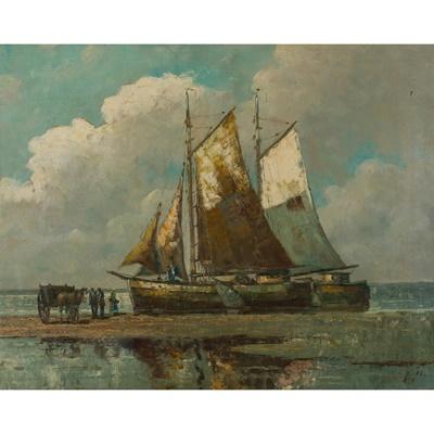Lot 79 - CIRCLE OF HENDRICK WILLEM MESDAG (DUTCH 1831 - 1915)