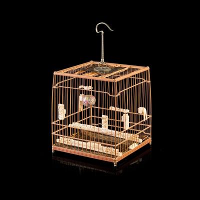 Lot 12-BAMBOO BIRD CAGE