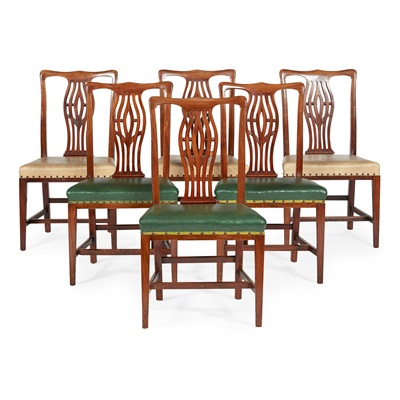 Lot 55 - SET OF EIGHT GEORGIAN STYLE DINING CHAIRS
