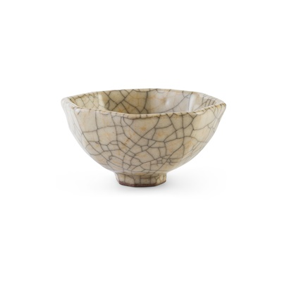 Lot 143 - GE-TYPE CRACKLE-GLAZED WINE CUP