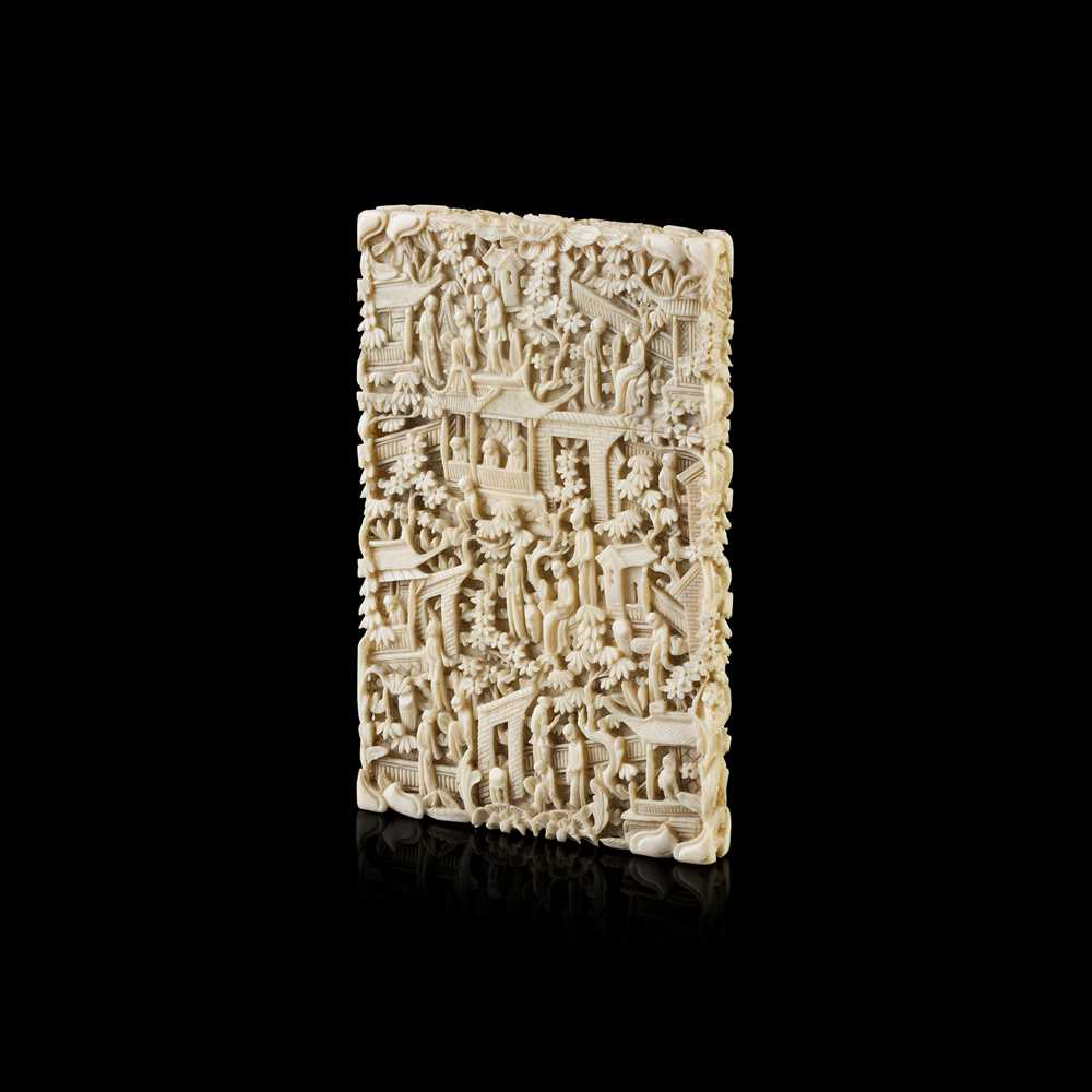 Lot 26-CANTON IVORY CARD CASE
