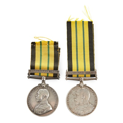 Lot 179 - An Edward VII and a George V Africa General Service Medal