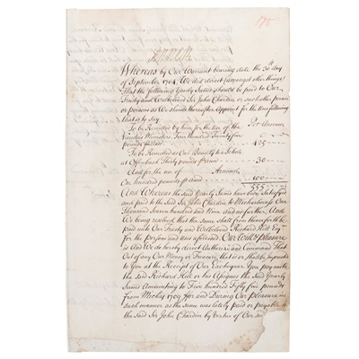Lot 216 - [Waldensian Protestants] - Anne, Queen of Great Britain (1665-1714)