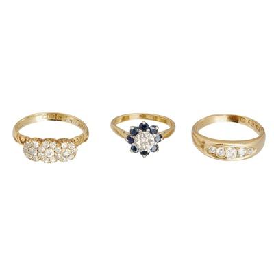 Lot 54-Three gem set rings