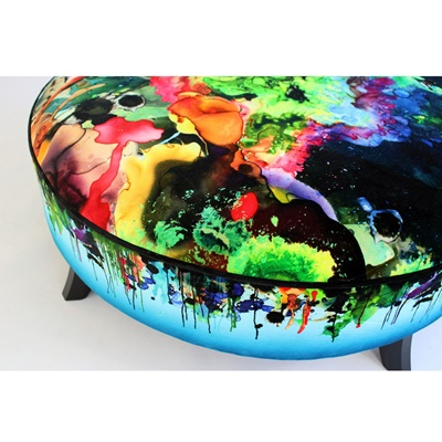 Lot 19-TIMOROUS BEASTIES KALEDIO SPLATT POUFFE