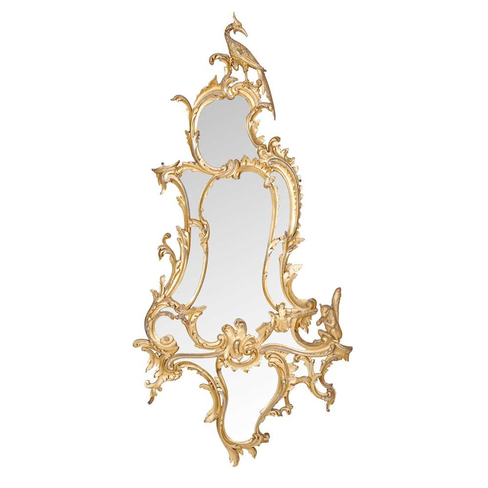 Lot 107 - CHIPPENDALE STYLE GILT WOOD MIRROR