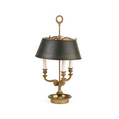 Lot 12 - FRENCH GILT BRASS BOUILLOTTE LAMP