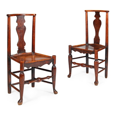 Lot 62 - PAIR OF GEORGIAN PROVINCIAL ASH SIDE CHAIRS